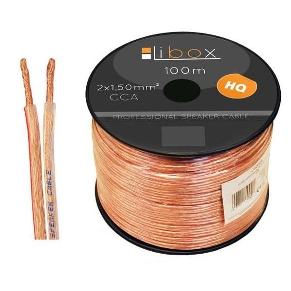 Kabel głośnikowy 2×1,50mm LB0008 LIBOX