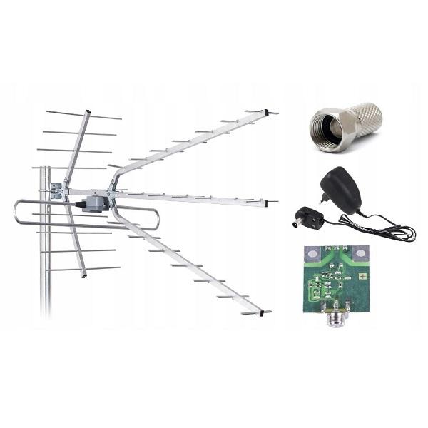 Antena kierunkowa ze wzmacniaczem LB-2100W COMBO LIBOX – PRODUKT POLSKI