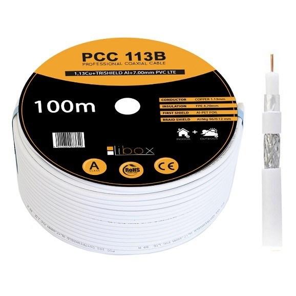 """Kabel SAT Coaxial PCC113B """"CPR"""" – 100m LIBOX"""