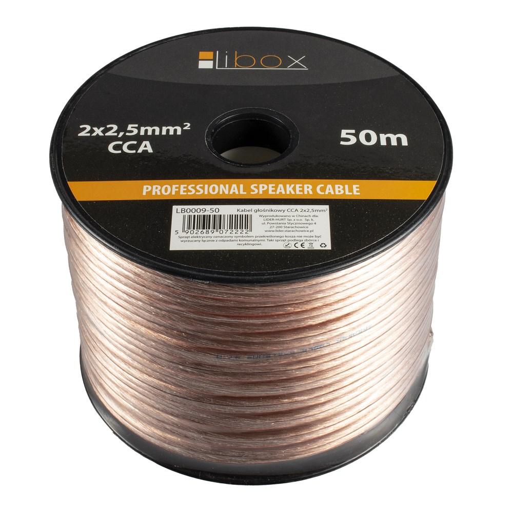 Kabel głośnikowy 2×2,50mm LB0009-50 LIBOX