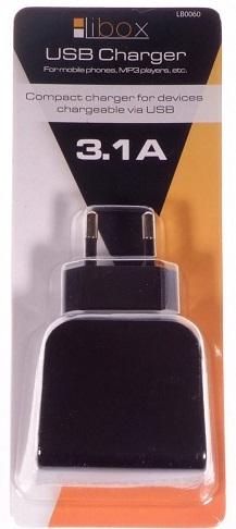 Ładowarka sieciowa USB 3,1A LB0060 LIBOX