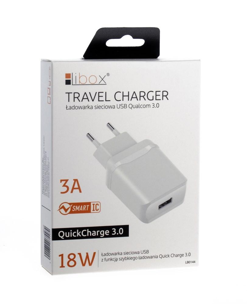 Ładowarka sieciowa USB 3.0A LB0144 LIBOX 18W
