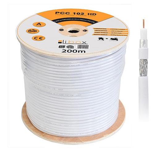 Kabel koncentryczny Trishield 200m PCC102 LIBOX